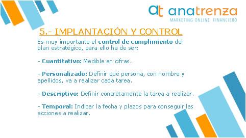 Ana Trenza - Blog - Como hacer un plan estrategico - Implantacion y Control