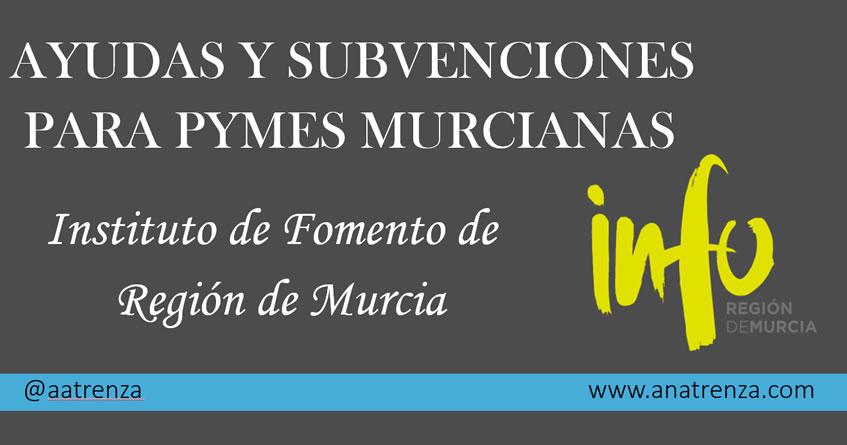 Ayudas y Subvenciones para PYMES murcianas del Instituto de Fomento de la Región de Murcia - INFO