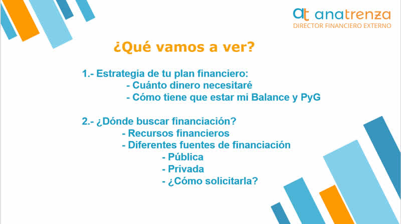 Ana Trenza - Financiacion para Empresas - Resumen