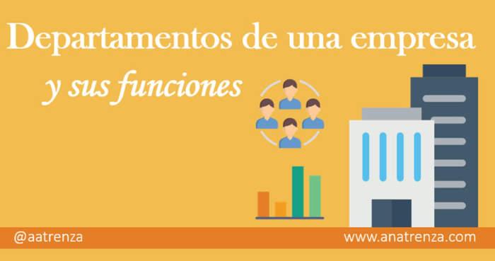 Ana Trenza - Departamentos de una empresa y sus funciones