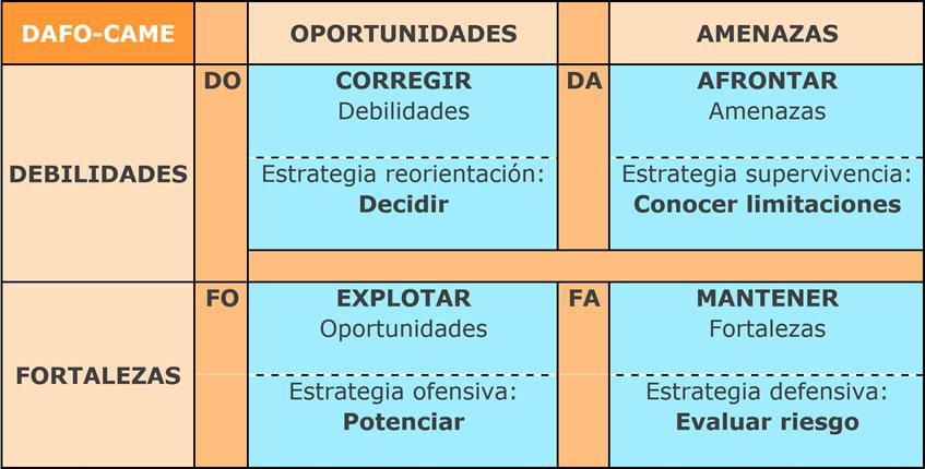 Como hacer un Analisis Dafo en una Empresa - Ana Trenza - DAFO CAME
