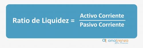 Fórmula del ratio de liquidez