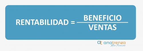 fórmula de la rentabilidad