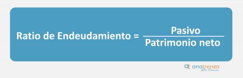 fórmula del ratio de endeudamiento