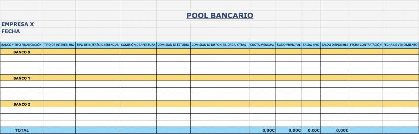 Ejemplo pool bancario