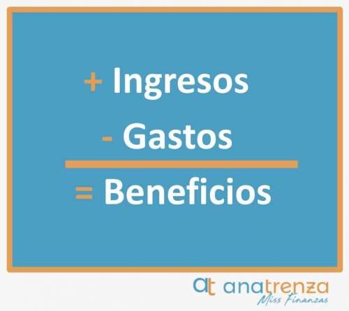 + Ingresos - Gastos = Beneficios