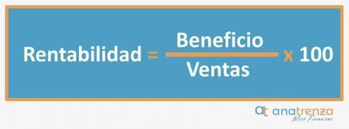 Rentabilidad = Beneficio / Ventas