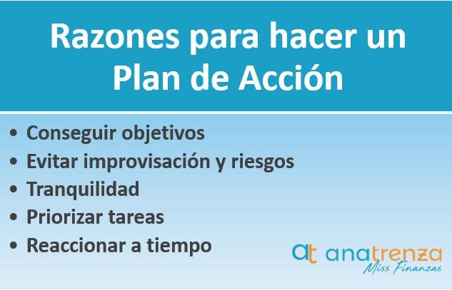 Razones para hacer un plan de acción
